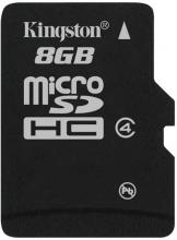 Флаш карта Kingston 8GB Micro SDHC, Class 4
