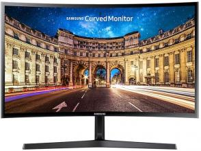 "Извит монитор Samsung C24FG396F Curved 23.5"" LED, Full HD (1920x1080), Черен"