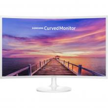 "Извит монитор Samsung C32F391F Curved 31.5"" LED, Full HD (1920x1080), Бял"