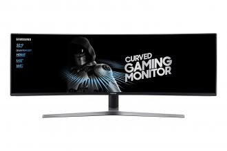"Геймърски монитор Samsung C49HG90D Curved 48.9"" LED, (3840 x 1080), 144Hz, 1ms"