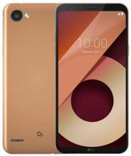 "Смартфон LG Q6 (2018) 5.46"" FHD+(2160 x 1080), 32 GB, Single Sim, Златист (LGM700N)"