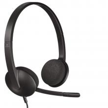 Слушалки Logitech H340 USB Headset with Noise-Cancelling Mic (981-000475)