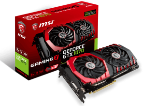 Видео карта MSI GeForce GTX 1070 Gaming X 8GB GDDR5