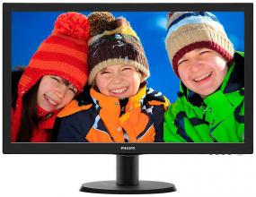 "Philips 243V5QHSBA, 23.6"" MVA LED, FullHD 1920x1080, Черен"