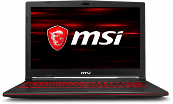 "UPGRADED MSI GL63 8RC (9S7-16P612-479) 15.6"" FHD 94% NTSC, i5-8300H, 8GB RAM, 256GB SSD, 1TB HDD, GTX 1050, Черен"