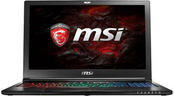 "MSI GS63VR 7RF Stealth Pro, 15.6"" 120Hz FHD, i7-7700HQ, 16GB RAM, 256GB SSD, 1TB HDD, GTX 1060 DDR5 6GB, Черен"