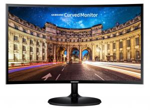 "Извит монитор Samsung C24F390FHUX, 23.5"" CURVED VA LED, 4ms, FHD (1920x1080), Лъскаво черен"