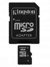 Флаш карта Kingston 8GB Micro SD, Class 4, Adapter