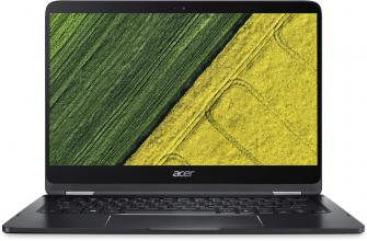 "Acer Aspire Spin 7 Ultrabook Convertible (NX.GKPEX.011) 14"" IPS FHD, i7-7Y75, 8GB DDR3, 256GB SSD, Win 10, Сив"