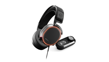 Геймърски слушалки SteelSeries Arctis Pro RGB LED + GameDAC DTS, Черни (STEEL-HEAD-61453)