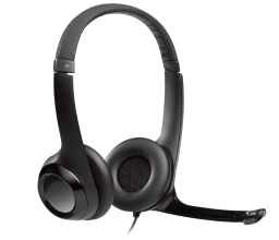 Слушалки Logitech H390 USB Headset with Noise-Cancelling Mic (981-000406)