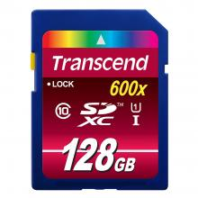 Карта памет Transcend Ultimate 128GB SDXC Card (600x, Class 10 UHS-I)