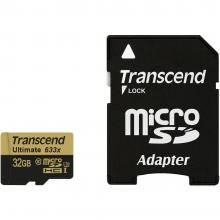 Карта памет Transcend 32GB microSDHC UHS-I (Class 3), MLC, 633x (with adapter)