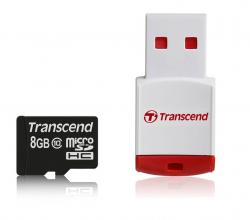 Карта памет Transcend 8GB microSDHC (with reader - Class 10)