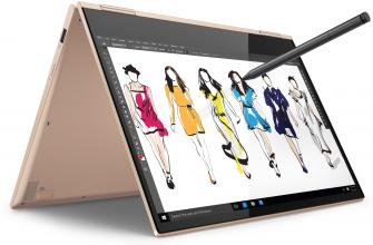"Лаптоп Lenovo Yoga 730 (13) YG730-13IKB (81CT0054BM) 13.3"" FHD IPS Multi-touch, i7-8550U, 8GB RAM, 256GB SSD, Win 10, Златист"