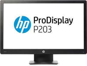 "Монитор HP ProDisplay P203 20"" TN,  HD+ (1600x900), 5 ms, Черен"