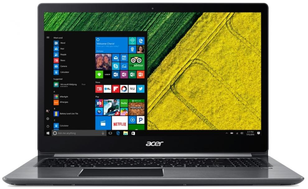 "Acer Aspire Swift 3 Ultrabook 15.6"" FHD, i7-7500U, 8GB RAM, 1TB HDD, GT MX150 2GB, Win 10, Сив"