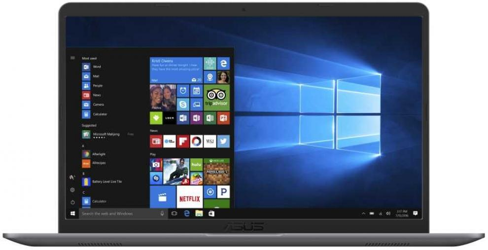 "UPGRADED ASUS VivoBook S15 S510UQ-BQ607, 15.6"" FHD, i7-8550U, 8GB RAM, 1TB HDD, GF 940MX, Сив"