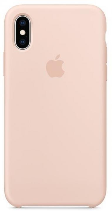 Силиконов гръб за Apple iPhone XS Silicone Case, Розов (MTF82ZM/A)