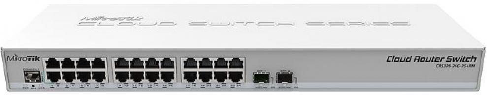 Комутатор MikroTik Cloud Router Switch CRS326-24G-2S+RM Dual Boot