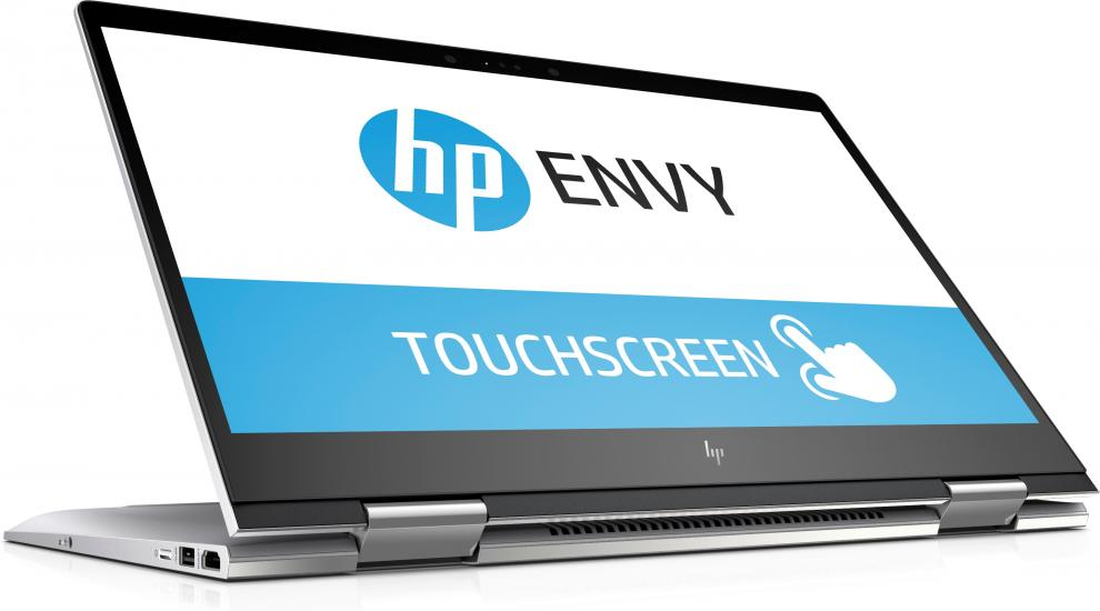 "HP ENVY x360 15-bp107nn (3QQ83EA) 15.6"" FHD IPS Touch, i7-8550U, 128GB SSD, 1TB HDD, GF MX150, Сребрист"