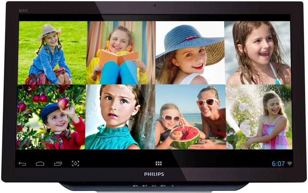 "Монитoр Philips Android 23"" IPS Smart All-in-One Touch, S231C4AFD"