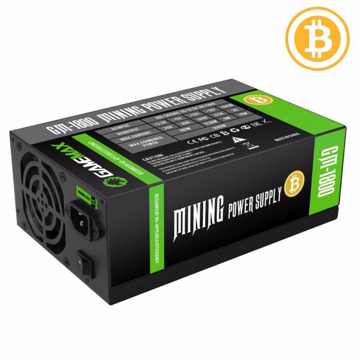Захранващ блок Gamemax 1800W GOLD 90+ Bitcoin Mining 18xPCIe - GM-1800