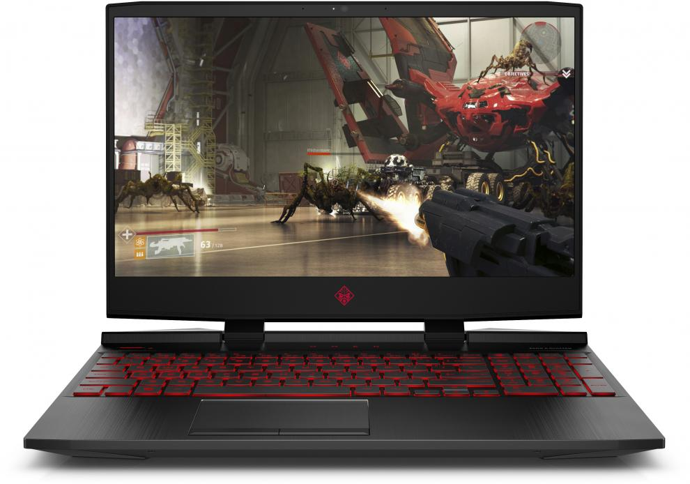 "UPGRADED HP Omen 15-dc0078nu (4MM72EA) 15.6"" FHD IPS 144Hz, i7-8750H, 8GB RAM, 128GB SSD, 1TB HDD, GTX 1060, Черен"