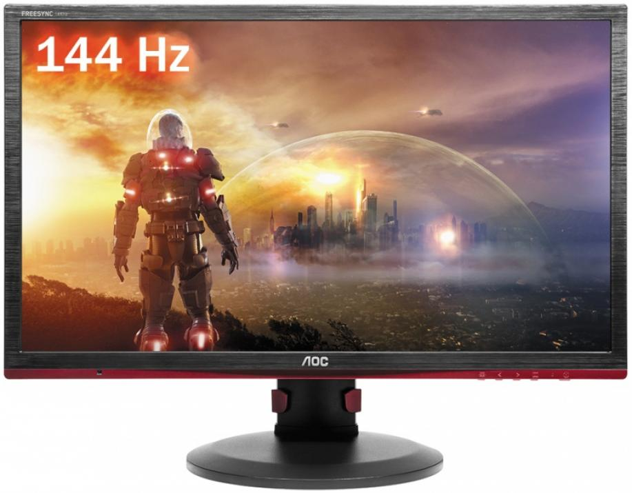 "AOC G2460PF 24"" TN, FHD 1920x1080, 1ms, 144 Hz, Черен/Червен"