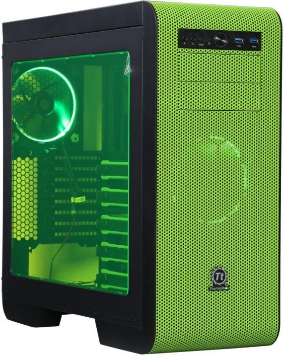 Компютърна кутия Thermaltake Core V51 Riing Edition Green
