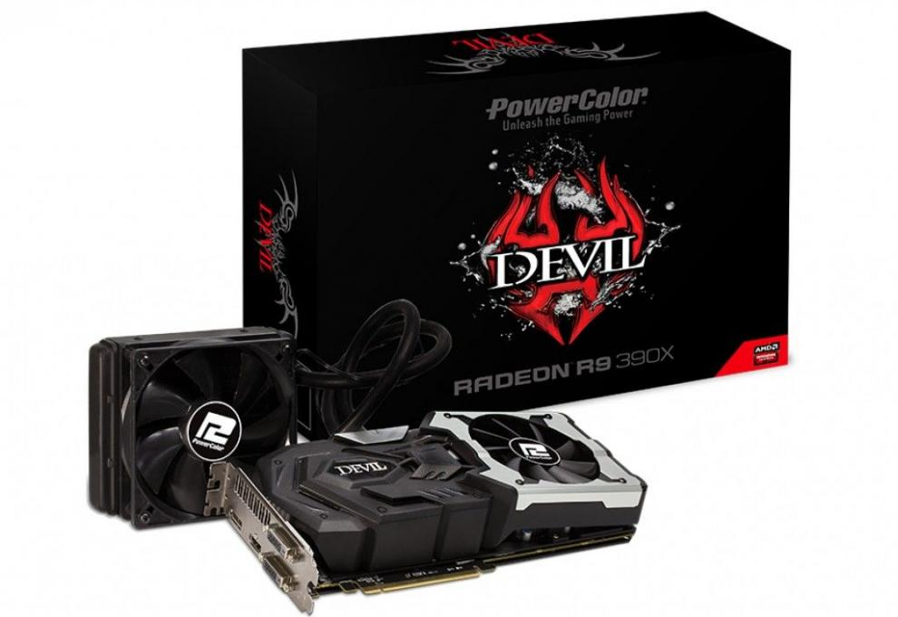 Видео карта Power Color R9 390X 8GB Devil DDR5