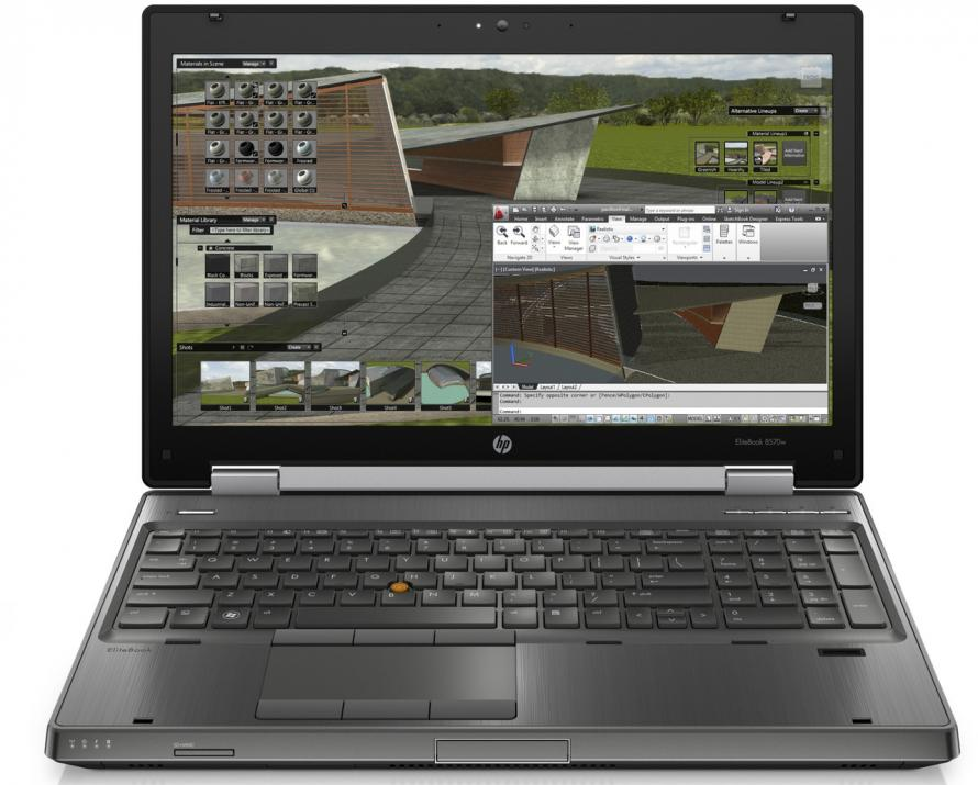 "Workstation HP EliteBook 8570w, 15.6"" FHD, i7-3720QM, 8GB RAM, 128GB SSD, Quadro K1000M, Win 10"