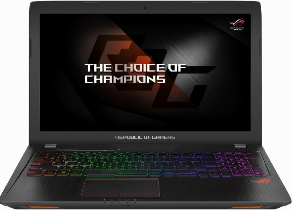 "ASUS ROG Strix GL553VE-FY330, 15.6"" IPS FHD, i7-7700HQ, 8GB RAM, 1TB HDD, GTX 1050Ti 4GB, 90NB0DX3-M05250, Метален"