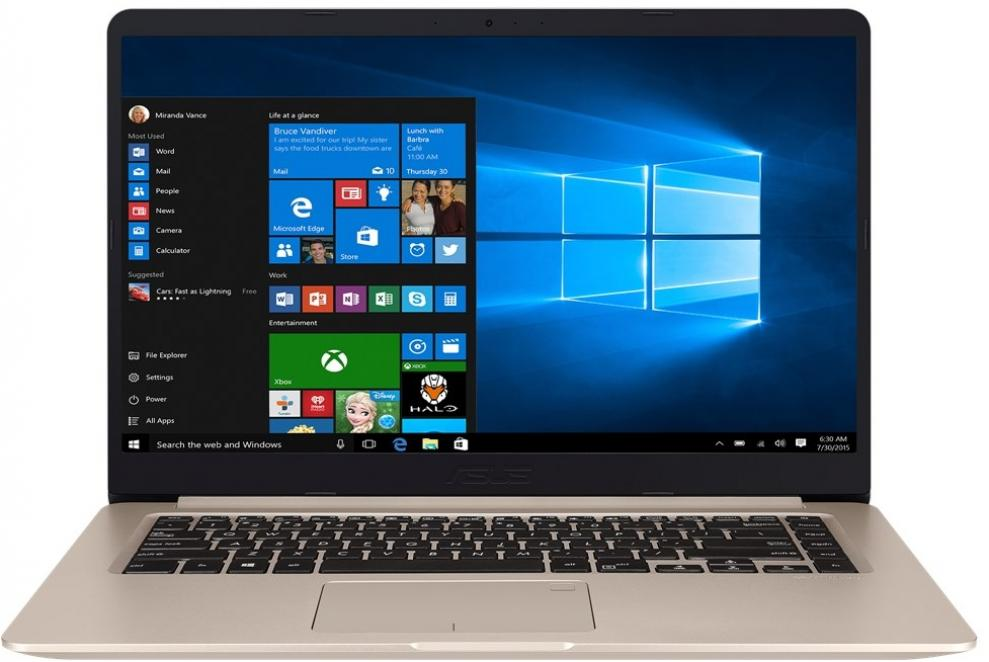 "UPGRADED ASUS VivoBook S15 S510UQ-BQ400, 15.6"" FHD, i5-7200U, 8GB RAM, 1TB HDD, GF 940MX, Златист"