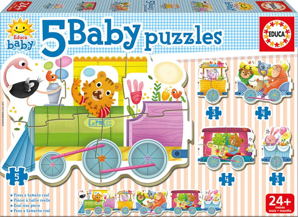 Пъзел Educa BABY ANIMALS TRAIN от 19 части - (17142)