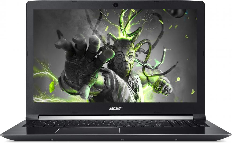 "UPGRADED Acer Aspire 7 (NX.GPFEX.024) 17.3"" IPS FHD, i7-7700HQ, 8GB DDR4, 128GB SSD, 1TB HDD, GTX 1060 DDR5 6GB, Черен"