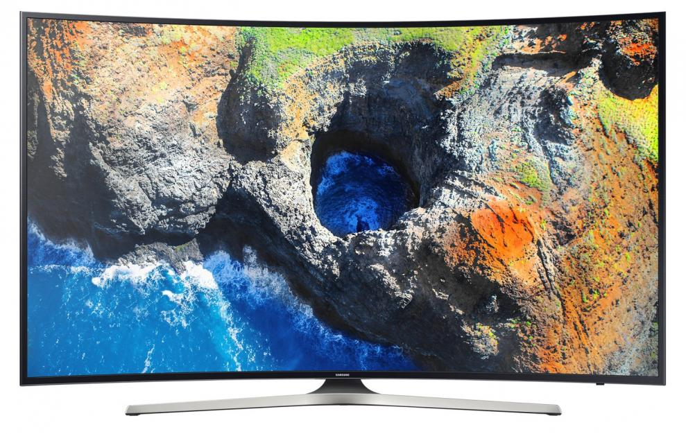 "Телевизор Samsung 65"" 65MU6222 CURVED 4K UHD(3840 x 2160), SMART TV, Wi-Fi, Черен"