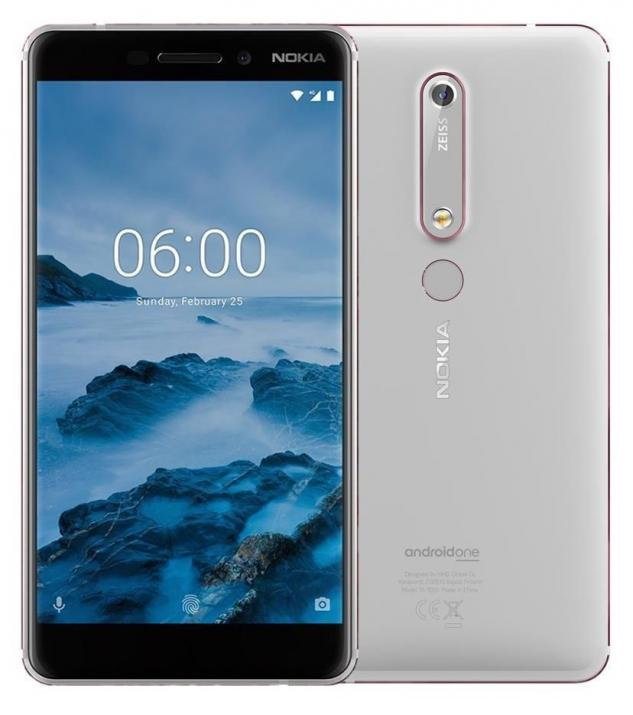 "Nokia 6.1 5.5"" FHD (1080 x 1920), (2018), 32 GB, Single SIM, Бял"