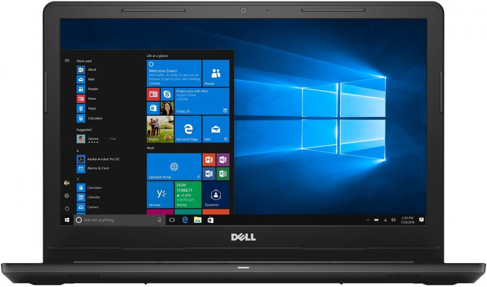 "Dell Inspiron 3576 15.6"" FHD, i5-8250U, 8GB RAM, 1TB HDD, AMD Radeon 520 2GB, Черен"