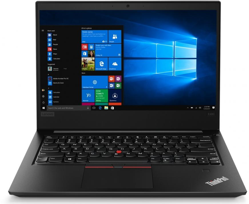 "Lenovo ThinkPad Edge E480 (20KN0069BM) 14"" FHD IPS, i5-8250U, 8GB RAM, 1TB HDD, Win 10 Pro, Черен"