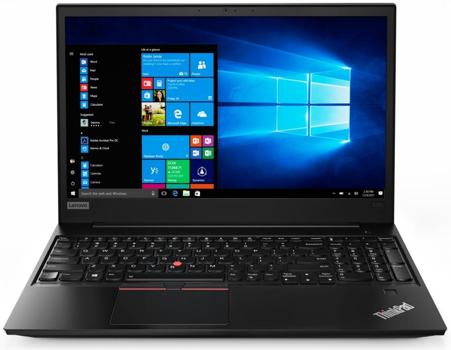 "Лаптоп Lenovo ThinkPad Edge E580 (20KS005BBM) 15.6"" FHD IPS, i7-8550U, 8GB RAM, 256GB SSD, AMD RX 550, Черен 1"