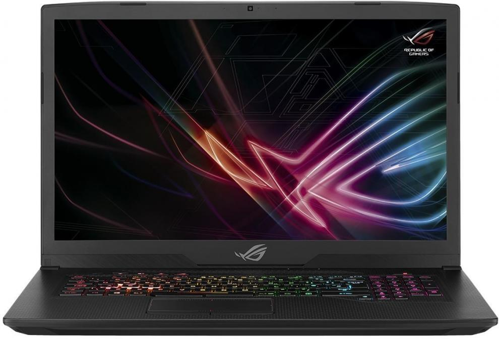 "UPGRADED ASUS ROG Strix GL703GE-GC024 (90NR00D2-M00850) 17.3"" FHD IPS, i7-8750H, 8GB RAM, 128GB SSD, 1TB SSH, GTX 1050Ti, Черен"