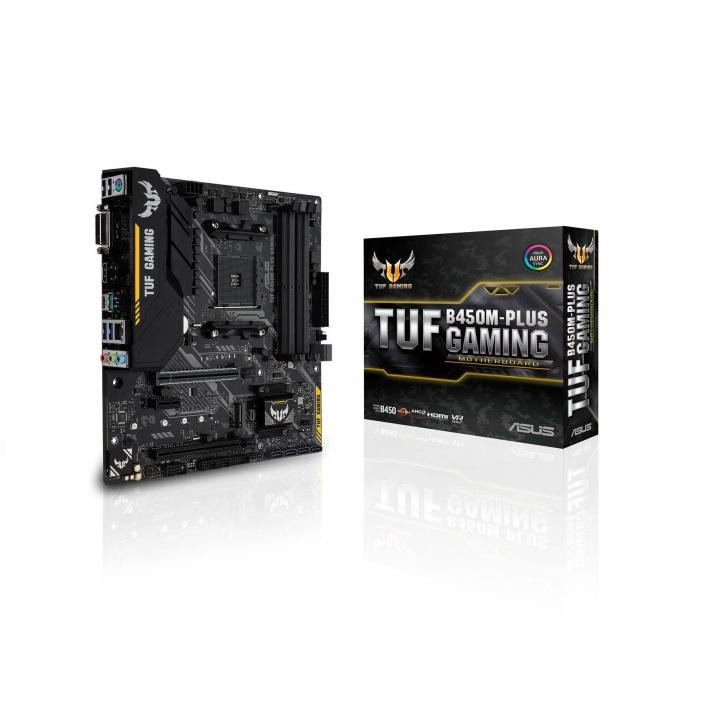 Дънна платка ASUS TUF B450M-Plus Gaming Aura Sync AM4
