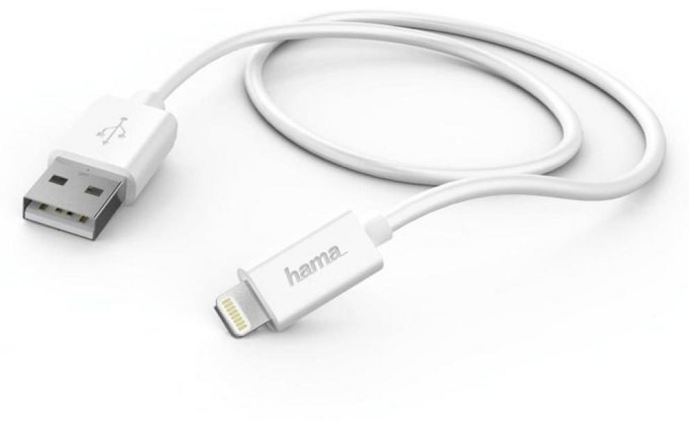 Кабел HAMA - USB - Lightning, 1 м, Бял (HAMA-173863)