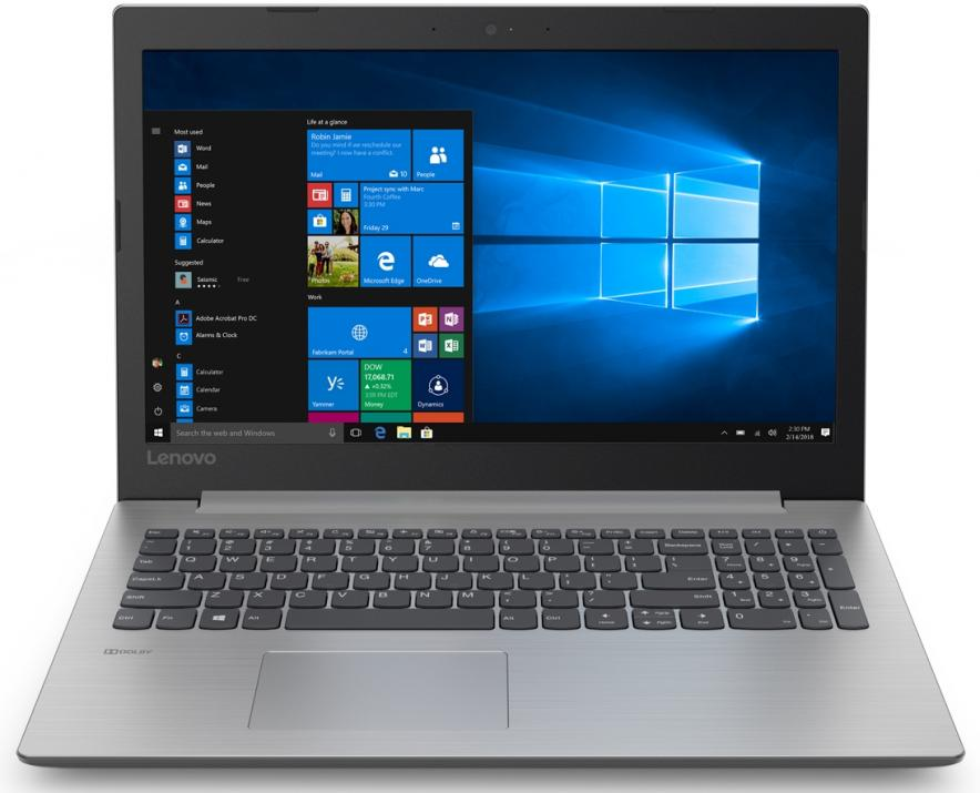"UPGRADED Lenovo IdeaPad 330-15IGM (81D1007QBM) 15.6"" HD, Pentium N5000, 4GB RAM, 1TB HDD, 256 GB SSD, Сив, Win10 Pro"