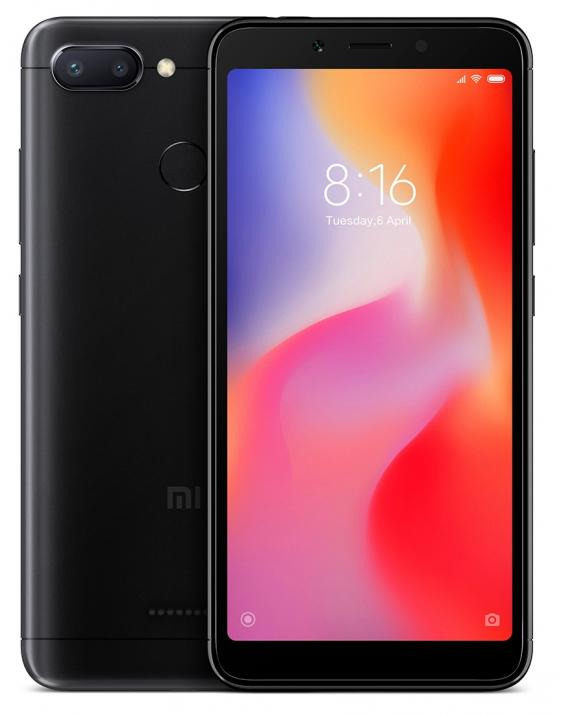 "Xiaomi Redmi 6 5.45"" HD+(720 x 1440), 64GB, Черен MZB6701EU"