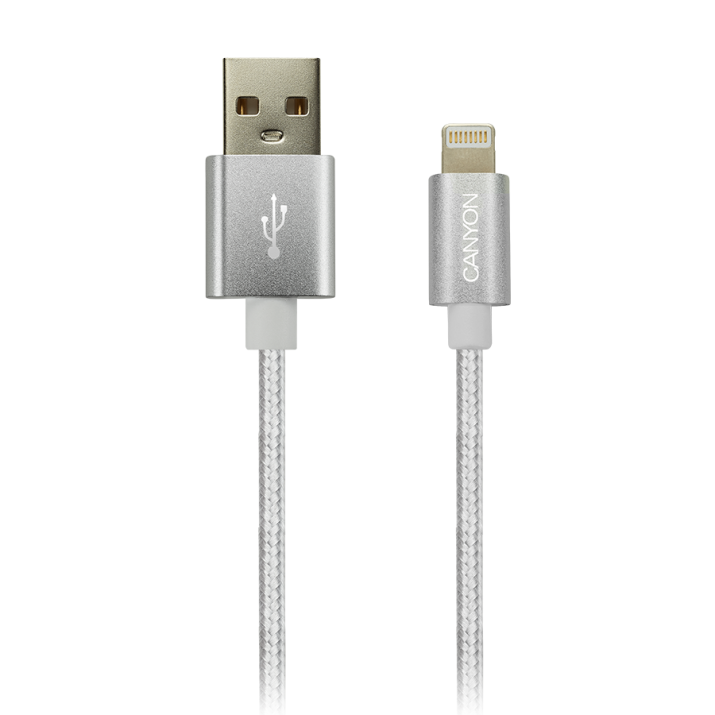 Lightning USB Cable Canyon for iPhone 5/6/7, 8-pin, 1м