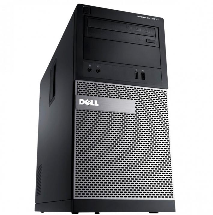 За игри Dell OptiPlex 3010 Tower, i5-3470, 8GB RAM, 240GB SSD, 500GB HDD, GTX 1050Ti, Win 10 Pro
