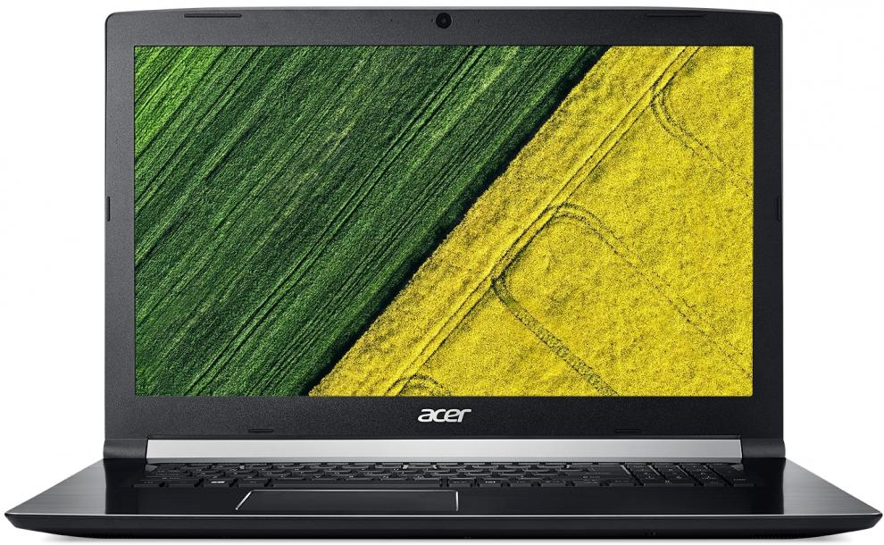 "UPGRADED Acer Aspire 7 A717-72G-74B2 (NH.GXDEX.048) 17.3"" FHD IPS, i7-8750H, 8GB RAM, 128GB SSD, 1TB HDD, GTX 1050, Черен"