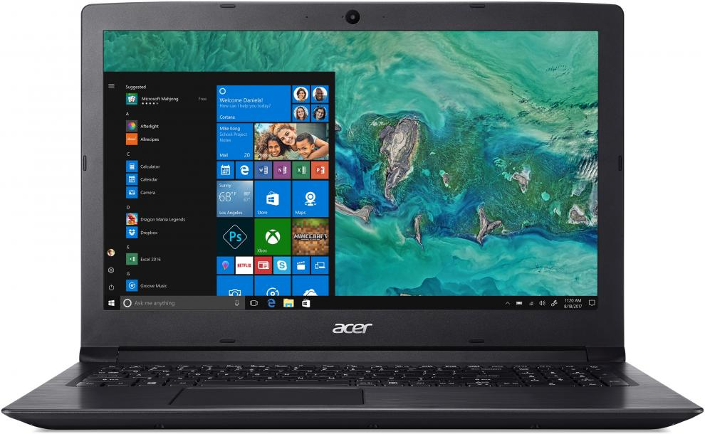 "UPGRADED Acer Aspire 3 A315-53G-34S3 | NX.H9JEX.027 | 15.6"" FHD, i3-7020U, 8GB , 256GB SSD, GeForce MX 130, Черен, Win10"
